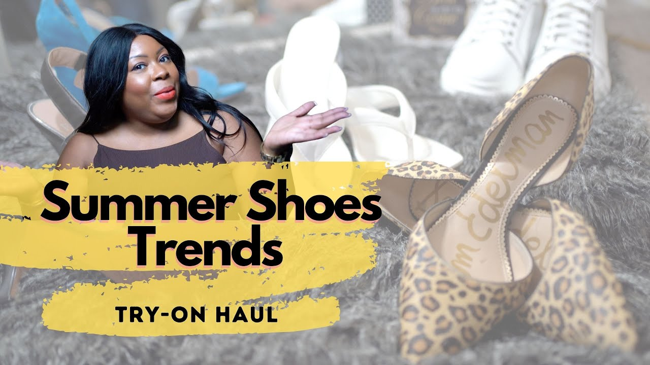 Spring and Summer Shoe Trends + Try-on Haul | Sneakers, Sandals, Loafers | CanDesLand 2021