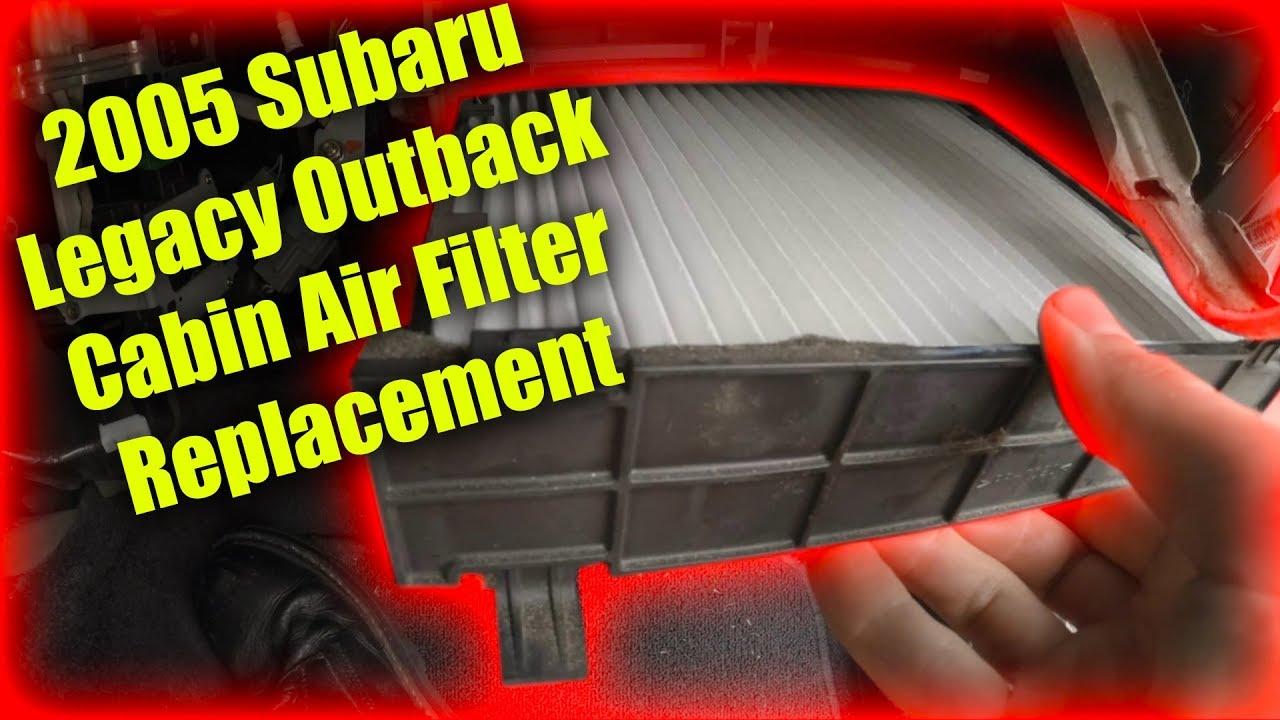 Subaru Legacy: Air filtration system