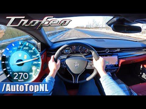 2021 Maserati Quattroporte Trofeo 580HP V8 on AUTOBAHN [NO SPEED LIMIT] by AutoTopNL