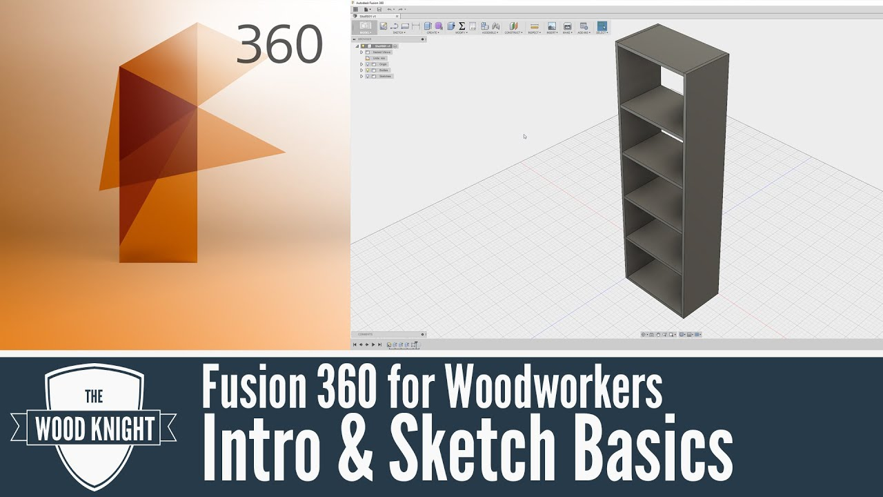 Fusion 360 for Woodworkers 01: Intro & Sketch Basics