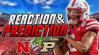 PREDICTIONS For Purdue Game & REACTION to Indiana! Nebraska Football Huskers Big 10