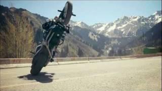 Stunt bike rider Chris Pfeiffer tours through Kazakhstan