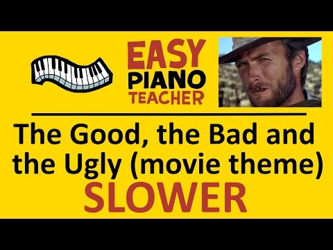 How to play The Good The Bad And The Ugly (movie theme): EASY keyboard song! (Piano tutorial SLOW)