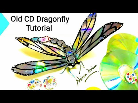 How to make || DIY Best out of Waste DVD / CD Recycled Dragonfly || Must Watch Video.. #cdrecycling