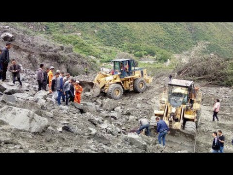Over 100 people buried in landslide in SW China, rescue underway