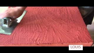 Colocación de Italflex textura extra gruesa - Revestimiento plástico texturado