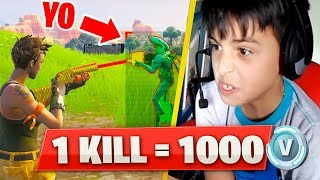 I give 1000 PAVOS to child HACKER for EVERY KILL I do in FORTNITE