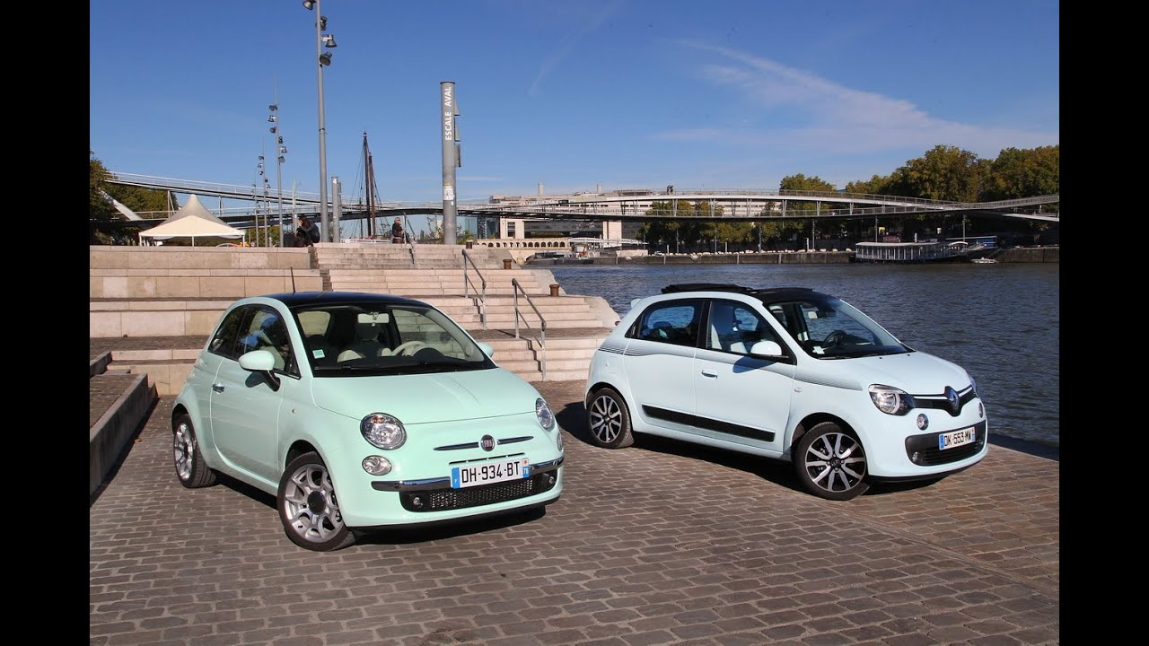 essai comparatif la nouvelle renault twingo vs la fiat 500 youtube. Black Bedroom Furniture Sets. Home Design Ideas