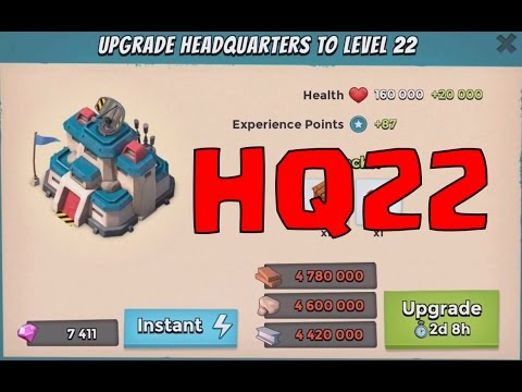 MEGA RESOURCE GRAB FOR HQ 22! | Boom Beach | NEW UPDATE '' RANKS, SUPPLY CHEST & MORE! ''