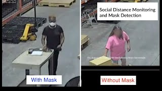 Video Surveillance in the Workplace for Social Distancing and Mask Detection