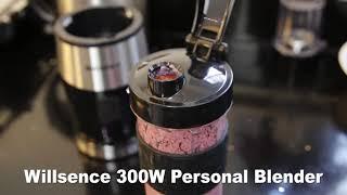 Willsence 300W Mini Bullet Smoothie Blender with 20 Oz Tritan Sports Bottle