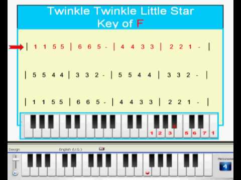 Piano Tutorial: Learn How To Play Piano Songs in 12 Keys:  Twinkle Twinkle Jianpu Video