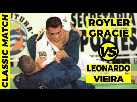 OLD SCHOOL BJJ MATCH: Leo Vieira vs Royler Gracie Jiu Jitsu Match IBJJF Worlds Finals 1999