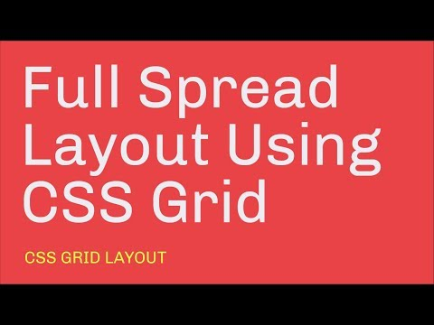 Full Spread Magazine Layout // CSS Grid Layout