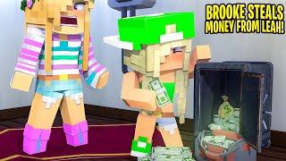 Little Leah's FOSTER DAUGHTER STEALS HER MONEY... Minecraft