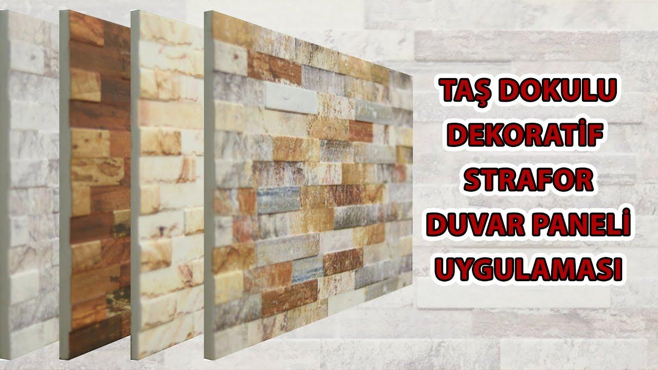 Taş Dokulu Dekoratif Strafor Duvar Kaplama Paneli Uygulaması