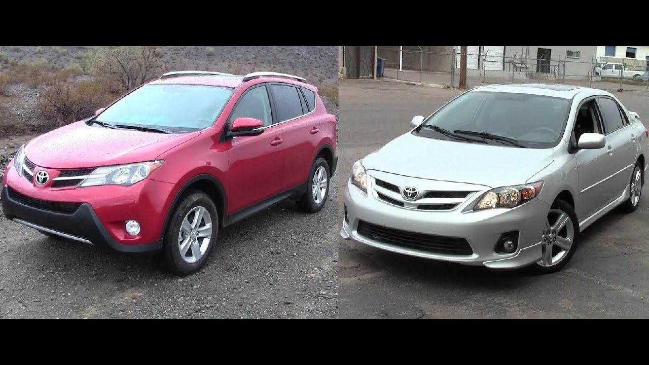Economical Vehicles Toyota Rav4 Vs Toyota Corolla Youtube