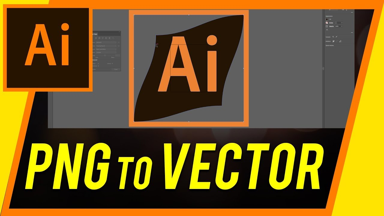 How To Convert A Png To Vector With Illustrator Youtube