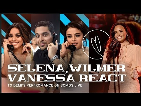 Selena, Wilmer & Vanessa Hudgen reacts to Demi's 'Hallelujah' performance at SOMOS Live! concert