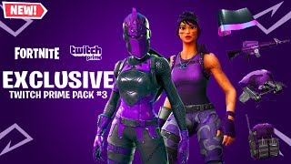 "How To Unlock ""TWITCH PRIME PACK 3"" for FREE in Fortnite Battle Royale! (FREE Twitch Prime Pack 3)"