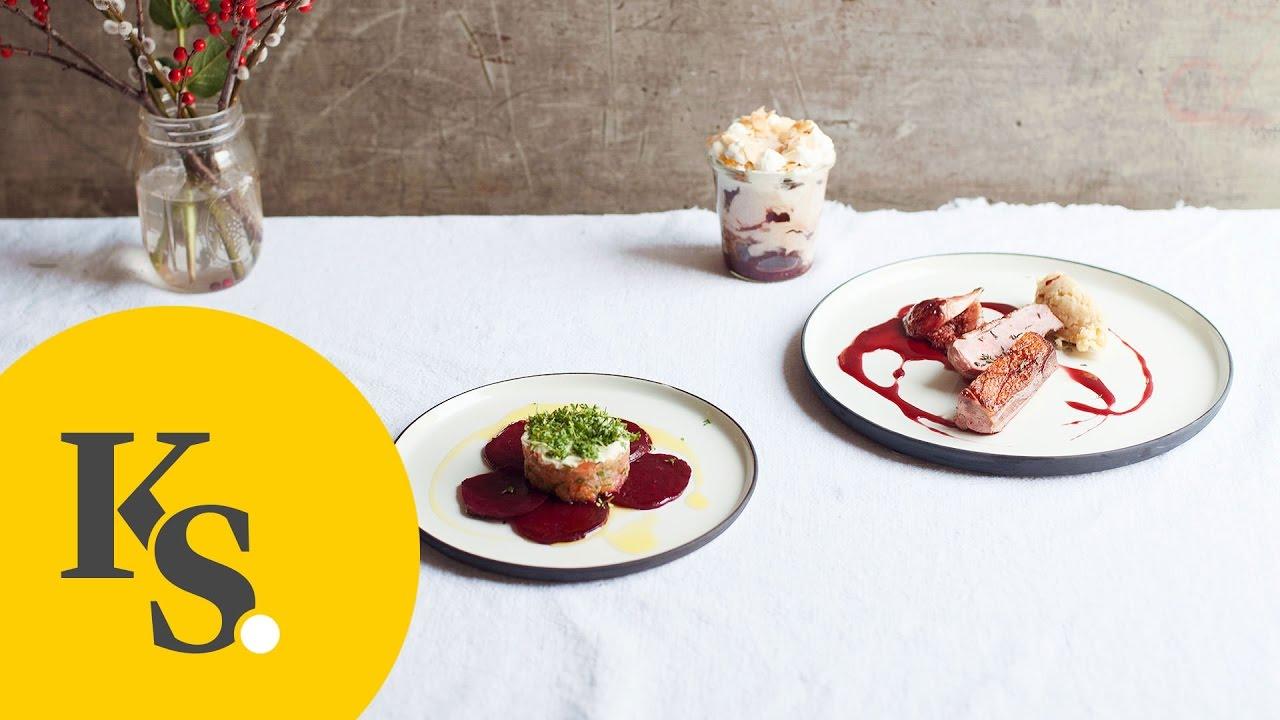 weihnachtsmen mit johann lafer lachs tartar rosa entenbrust lebkuchen trifle youtube. Black Bedroom Furniture Sets. Home Design Ideas