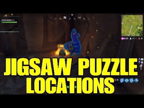 Fortnite Jigsaw Puzzle.All Puzzle Piece Locations - Week 10 Challenges