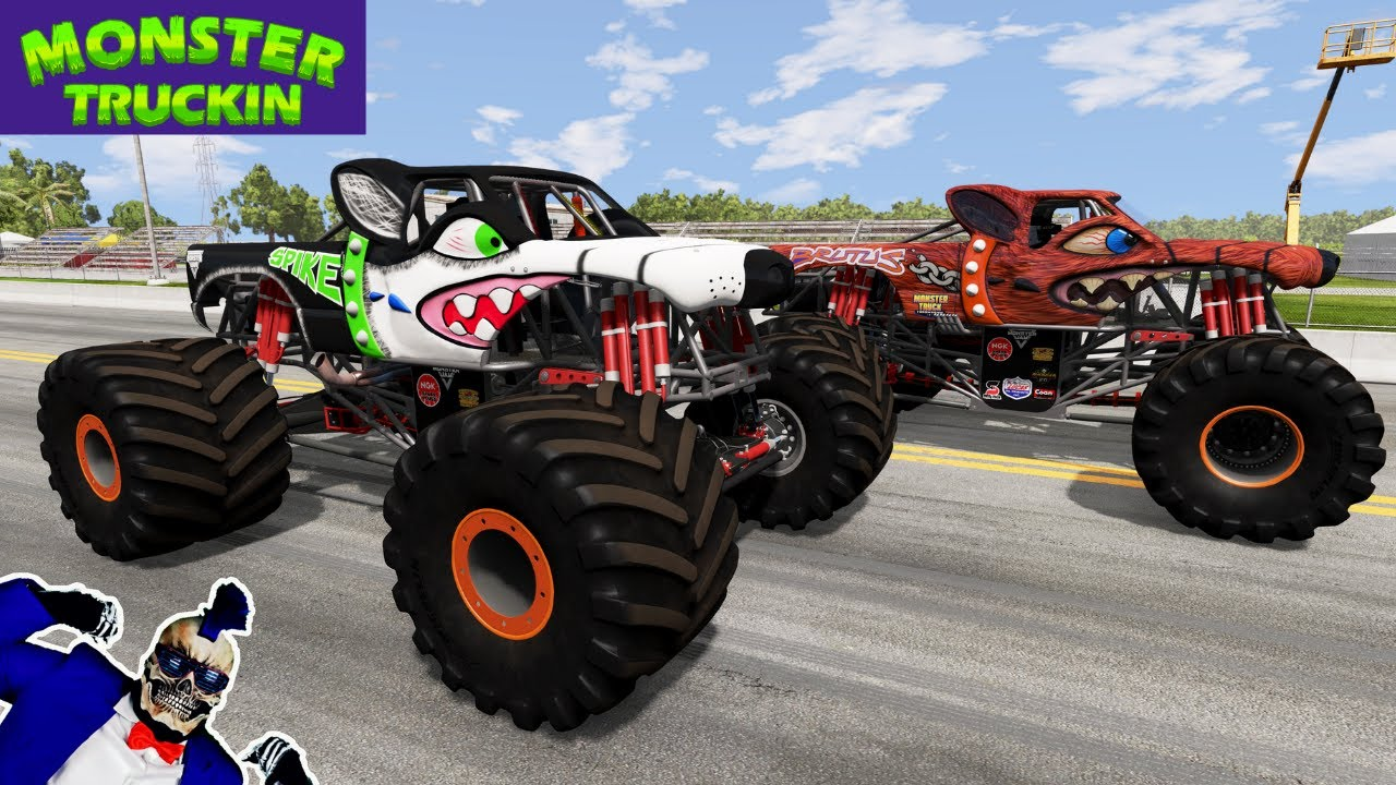 Monster Jam INSANE Racing, Freestyle and High Speed Jumps #18   BeamNG Drive