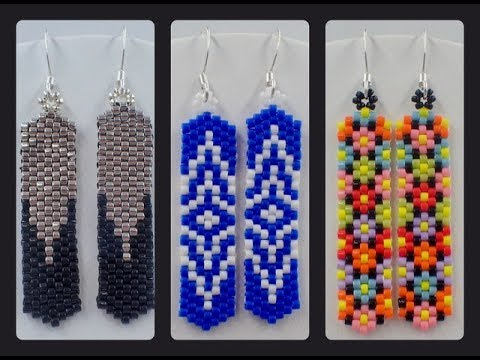 Odd Count Peyote Column Earrings
