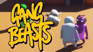 Gang Beasts - БОЙ НА КРЫШЕ! (Брейн и Даша)