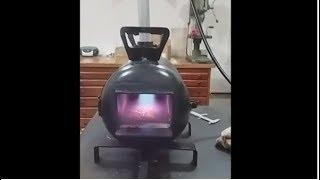 como construir uma forja a gás   canal fazer em casa