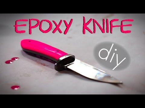 Pink Knives w/ Epoxy