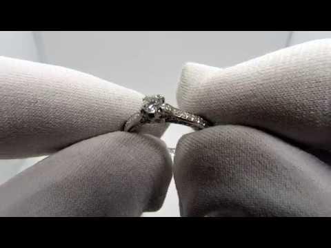 EliteGold - комплект кольцо и серьги из белого золота с бриллиантами