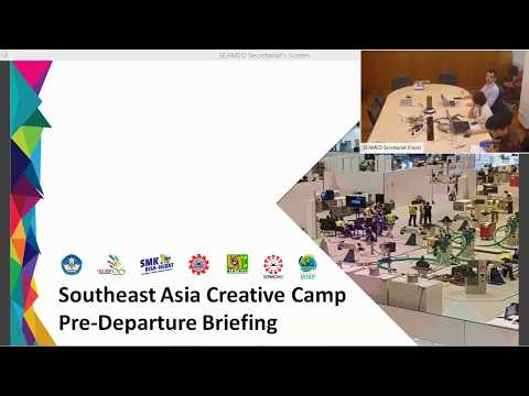 [Webex] Pre-Departure Briefing for Winning Teams of SEA Camp (26Apr2pm)