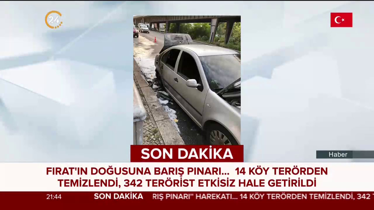 Berlin'de Türk Büyükelçiliğine ait araç kundaklandı