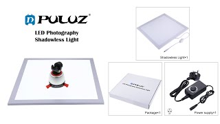 PULUZ 1200LM LED Photography Shadowless Light Lamp Panel Pad with Switch