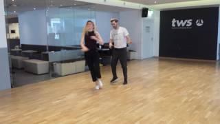 Boogie woogie basic turns with Grzegorz and Agnieszka.