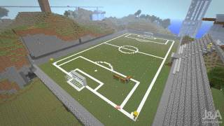 Minecraft - Football field - Timelapse