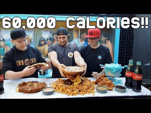 The Biggest Food Challenge In Australia 60000 Calories Epic Meal