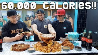 The BIGGEST FOOD CHALLENGE in AUSTRALIA! (60,000 Calories) EPIC MEAL TIME SIZE CHEAT MEAL
