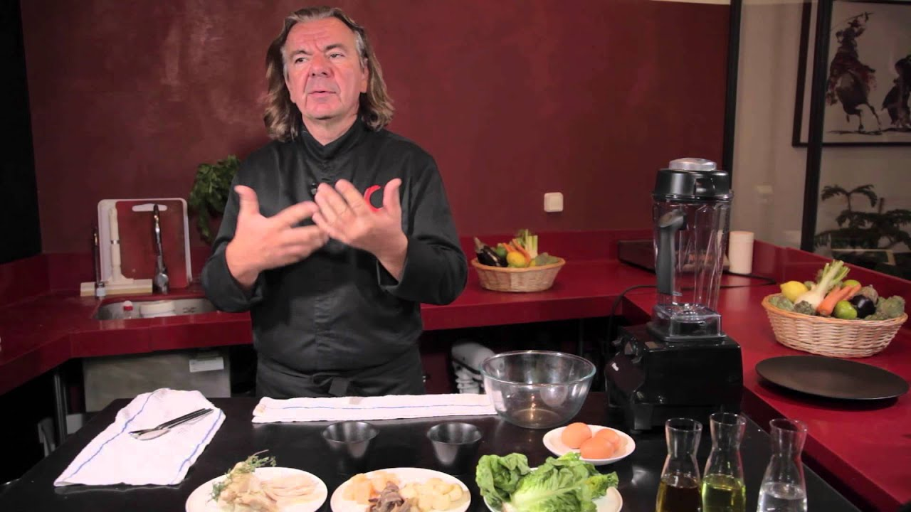 recette sauce salade c sar de jean luc rabanel youtube. Black Bedroom Furniture Sets. Home Design Ideas