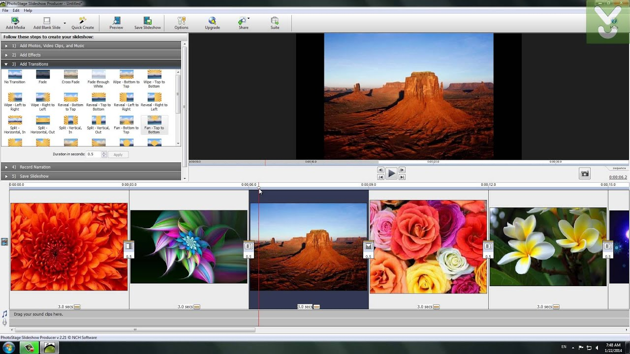 NCH PhotoStage Slideshow Producer Professional Features