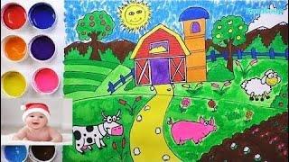 Dibuja y Colorea Granja - Dibujos Para Niños - Learn Colors / FunKeep   #part 100 thumbnail