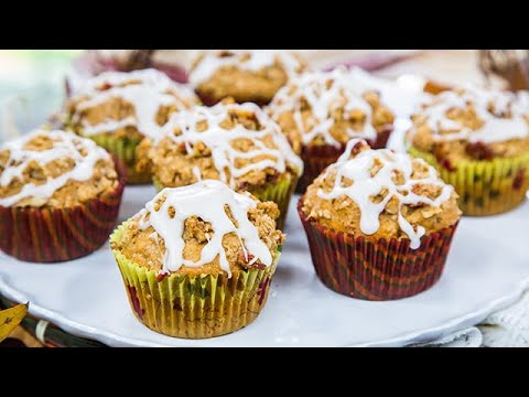 Maple Pecan Streusel Muffins with Cider Glaze - Home & Family