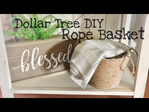 Dollar Tree DIY Rope Basket