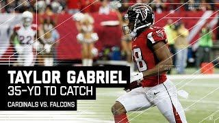 Taylor Gabriel Sprints & Weaves Through Cardinals Defense for a TD! | Cardinals vs. Falcons | NFL