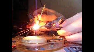 Понижающий ВЧ-трансформатор. Полумост на TL494.(Высокочастотный понижающий трансформатор 6:1 работает на короткое замыкание. Питание - полумостовой инверт..., 2011-06-16T19:51:11.000Z)
