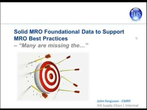 Understanding the Importance of Solid MRO Foundational Data