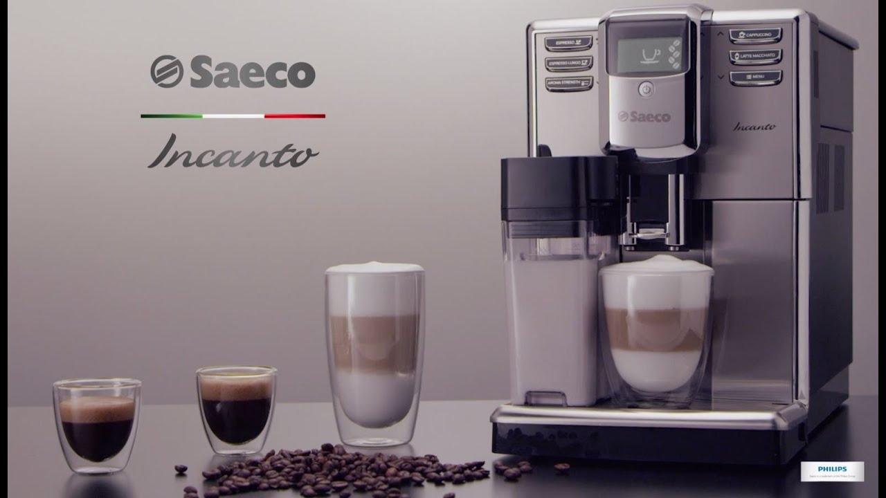 f336f6ac79e2 Ekspres ciśnieniowy do kawy Saeco Incanto - YouTube