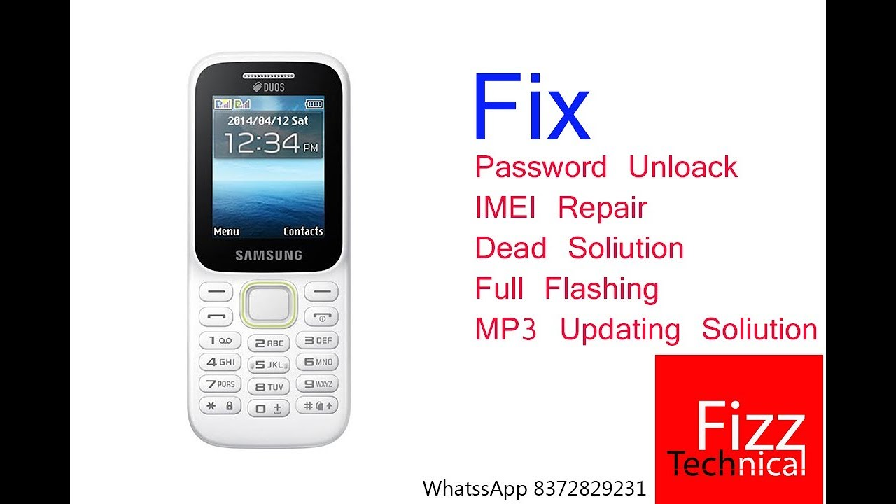Fix Samsung B310e Unlock Imei Dead Full Flashing 100 Tested Youtube