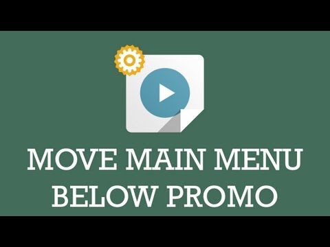 Customize JSN template video : Move main menu below promo